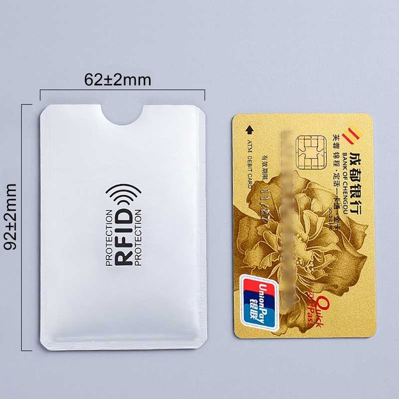 5pcs Anti Rfid Card Holder NFC Blocking Reader Lock ID Bank Card Case Protection Metal Credit Card Holder F052