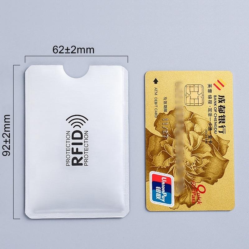 5pcs Anti Rfid Card Holder NFC Blocking Reader Lock ID Bank Card Case Protection Metal Credit Card Holder F052