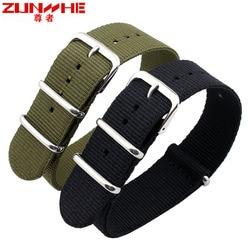 Applies DW band Daniel NATO nylon canvas strap 18/20/22 mm male female DW pure black Men's wear Adapter seiko watches