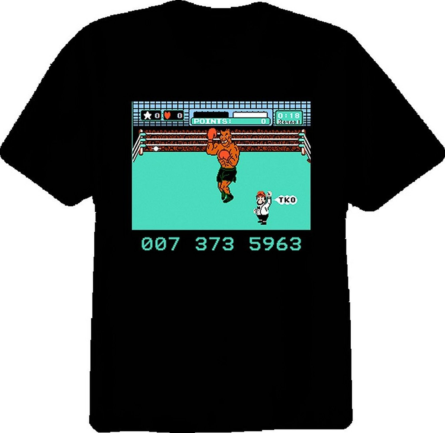 GILDAN Tshirt Men Black Short Sleeve Cotton Hip Hop T-shirt Print Tee Shirts Mike Tysons Punch Out Nes T Shirt