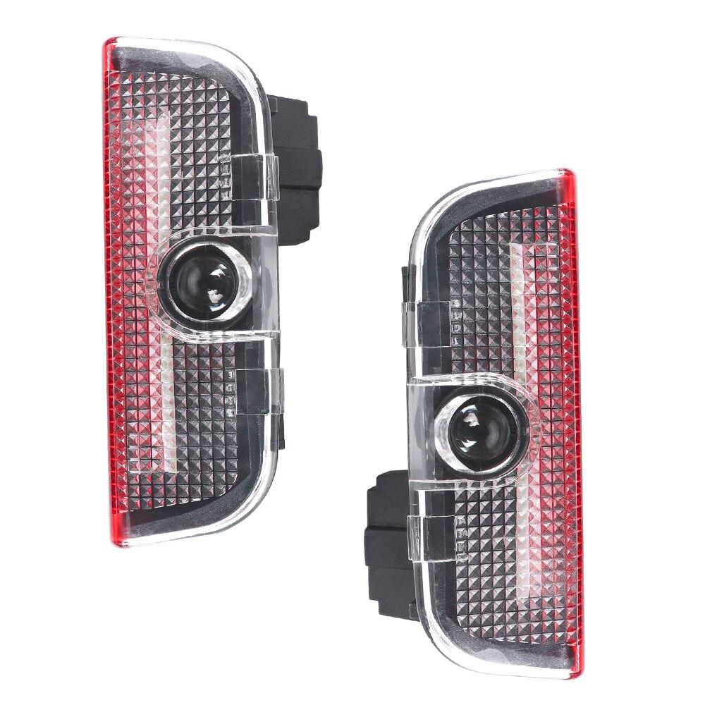 2pcs LED Car Door Welcome Light Laser Projector Logo Light For Skoda Superb 2009 2010 2011 2012 2013 2014 2015 Car Accessories