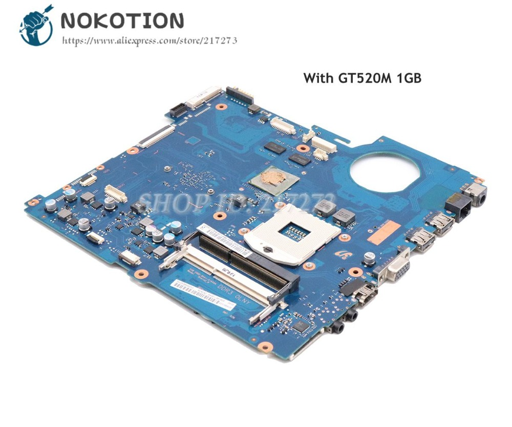 NOKOTION BA92-08186A BA41-01608A For Samsung RV520 Laptop Motherboard HM65 DDR3 GT520M 1gb gpu
