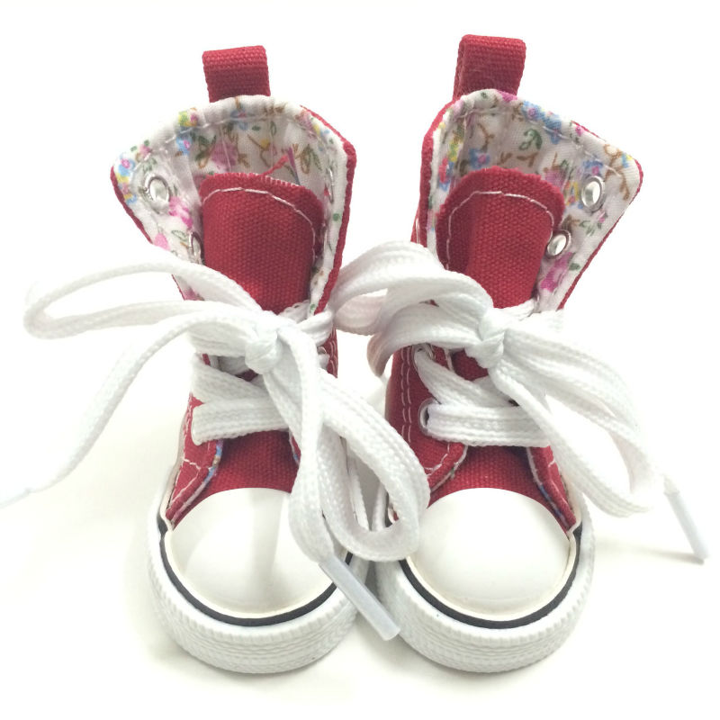 7.5 cm lienzo zapatos BJD muñeca de juguete para 16 pulgadas Sharon