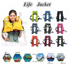 Swiming Life Vest Fishing Life Jacket 5 Sec Automatic Inflatable Top Rescue Vest 15kg Buoyancy kayak Women/man Life Jacket(China)