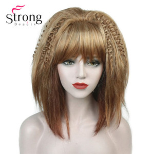 Image 5 - StrongBeauty Cosplay Alla Pugacheva Hairstyle Copper Red Black Blonde Party Wig Halloween Wigs Womens Full Synthetic Hair