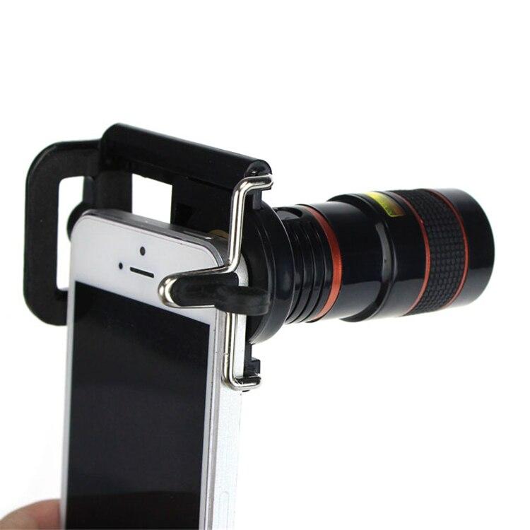 Pengiriman Gratis Terbaru 8X Zoom Optik Teleskop Kamera Lebar Sudut Lensa + Pemegang Telepon untuk iPhone 4 S 5 S 6 6 S Samsung Galaksi S HTC-Internasional