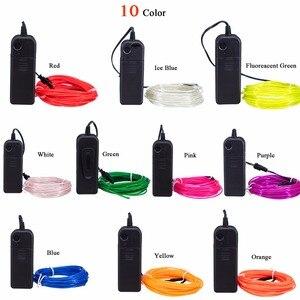 Image 2 - Неоновая декоративная лента, гибкая LED лампа для танцев и вечеринок, водонепроницаемая LED полоска с контроллером, 1 м, 3 м, 5 м