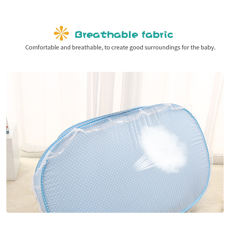 Baby Bedding Crib Netting Folding Baby Music Mosquito Insect Nets Bed Mattress Pillow Portable Three-piece Suit For 0-2t Baby Baby Bedding