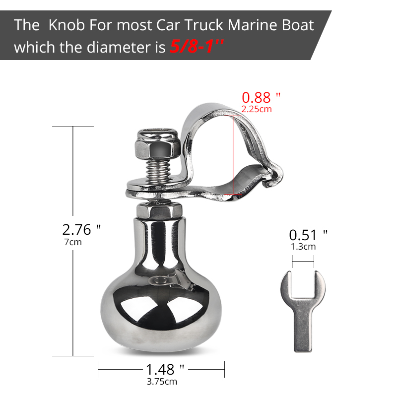 Image 2 - Stainless Steel Boat Marine Steering Wheel Knob Power Handle For Heavy Duty Truck Yacht Steering Wheel Handle Turning Control-in Marine Hardware from Automobiles & Motorcycles