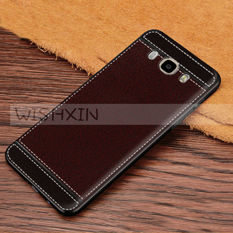 Case for Galaxy J5 2016 Leather Pattern TPU Soft Phone Cases For Samsung Galaxy J5 2016 SM-J510FN J510F J510G J510Y J510 J5108