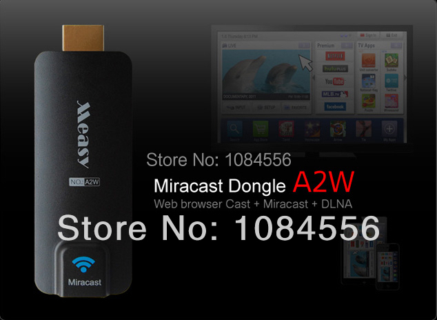 Measy A2W Miracast Wifi Display HDMI TV Stick Dongle Wireless Receiver Ezcast Airplay Streaming Media For Android IOS Windows
