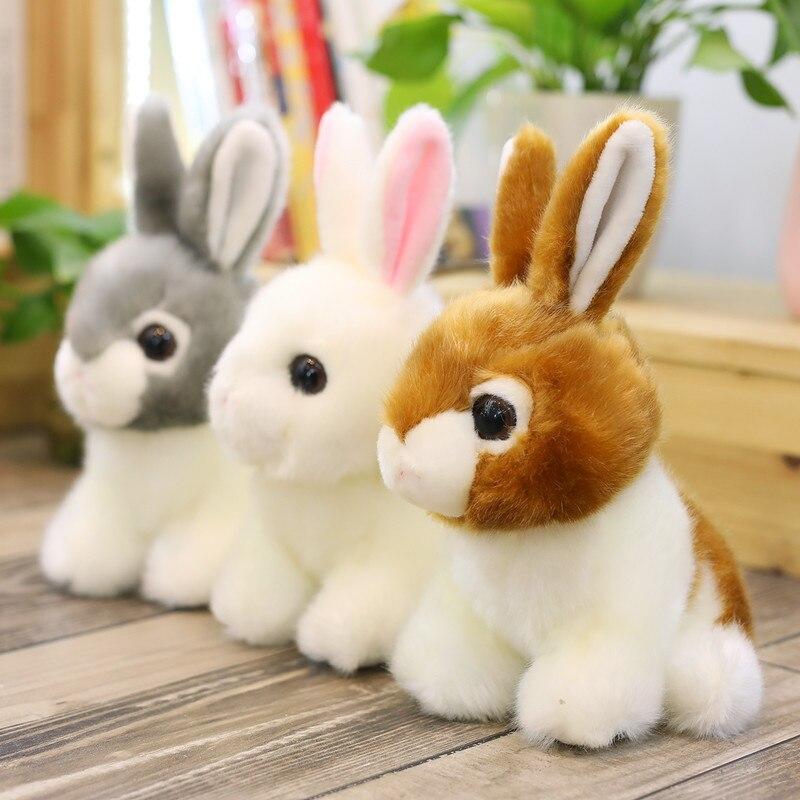 Cute Lifelike Bunny Plush Toy Realistic Rabbit Stuffed Animal Baby