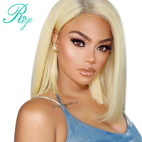 Riya Hair #613 Blonde BOb Wigs Silky Brazilian Remy Human Hair Lace Front Wig 130% Or 150% Density With Baby Hair Ombre Wig