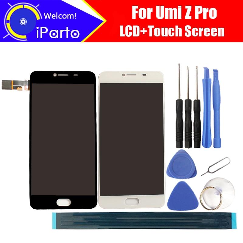 5,5 zoll UMI Z Pro LCD Display + Touchscreen Glas 100% Original Getestet Digitizer Glasscheibe Ersatz Für UMIDIGI Z Pro + Werkzeuge
