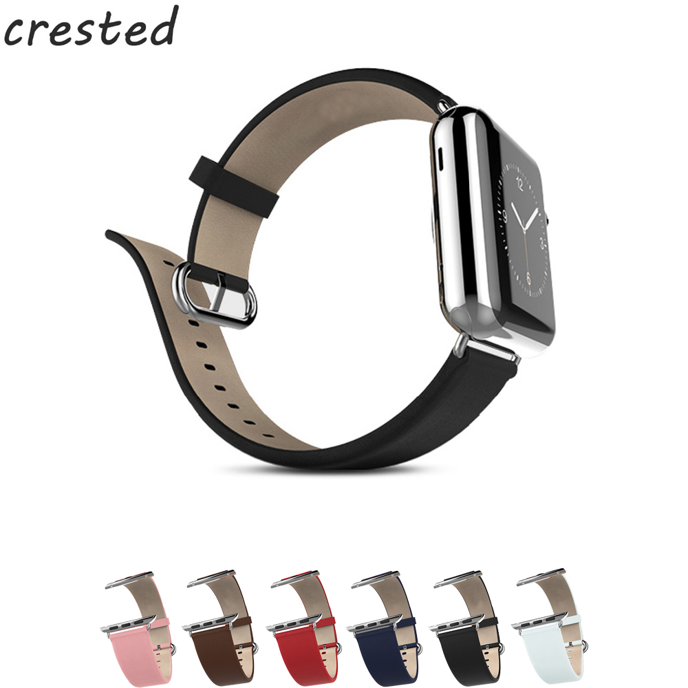 CERESTED genuine leather strap for apple watch band 42mm 38mm Calf leather belt bracelet watch band for iwatch series 3/2/1 laopijiang high quality hot selling fashion belt made of genuine leather watch band 22mm24mm26mm28mm30mm bracelet for ds