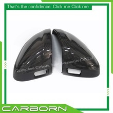 For Audi A4 S4 A5 S5 2015+ Replacement Style Carbon Fiber Mirror Cover Rear View Side Mirrors with Side Assist Lane