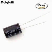 D0105 50pcs Aluminum electrolytic capacitor 100uF 63V 8*12 Electrolytic capacitor