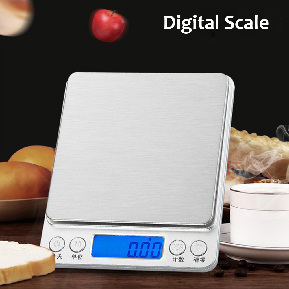 500g x 0.01g Portable Mini Electronic Kitchen Scale Digital Food Scale Weighing Scale LCD High Precision Measuring Tools(China)
