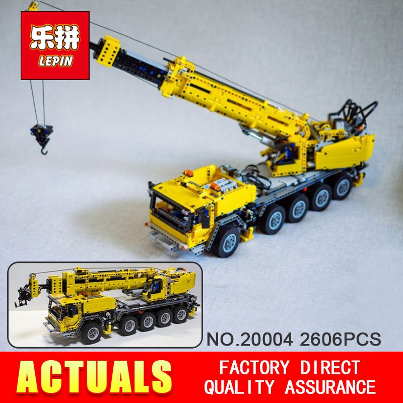 NEW 2606pcs LEPIN 20004 technic series Motor power mobile crane MK Model font b Building b
