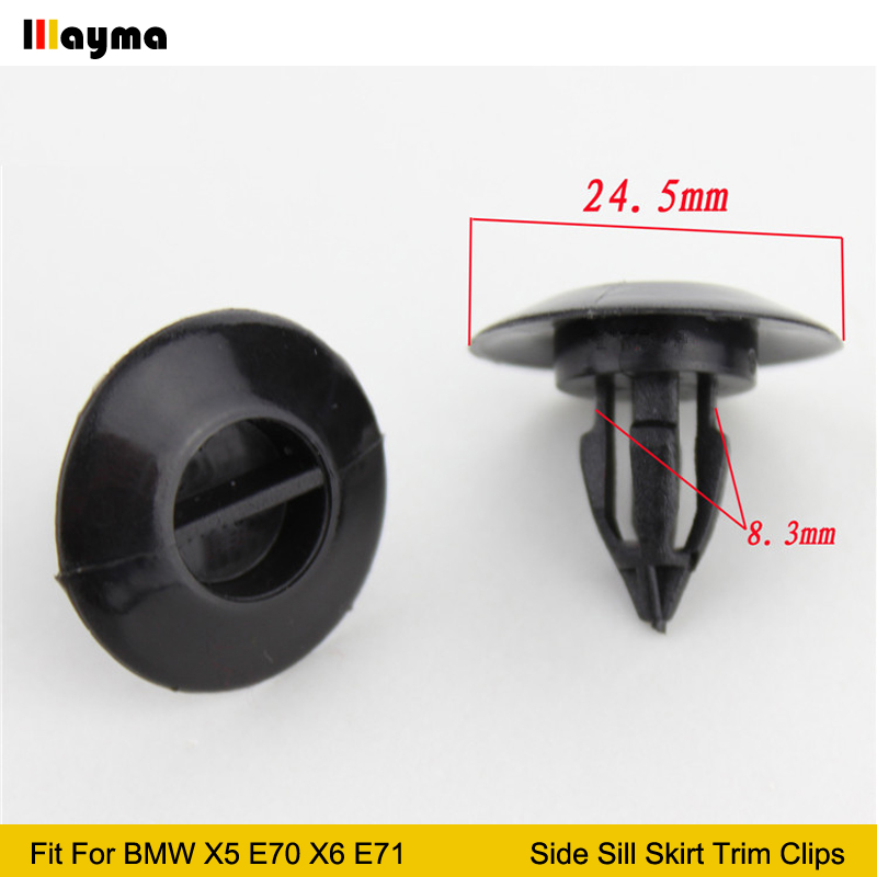 Seat /& Interior Trim Clips 20x VW 5mm Plastic Rivets Bumper Centre Console