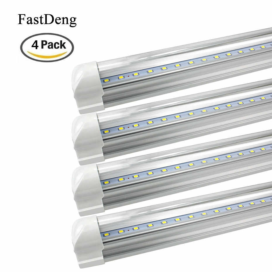 4Pcs T8 Led Lampen Buizen Licht 10W 2FT Led T8 Integred Buis Licht AC85-265V Led Tl-buis Voor indoor Keuken Verlichting