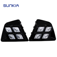 SUNKIA Car Styling Waterproof 12V LED Daytime Running Light DRL Fog Lamp For Hyundai Creta IX25 2014 2015 2016 Day Lamps