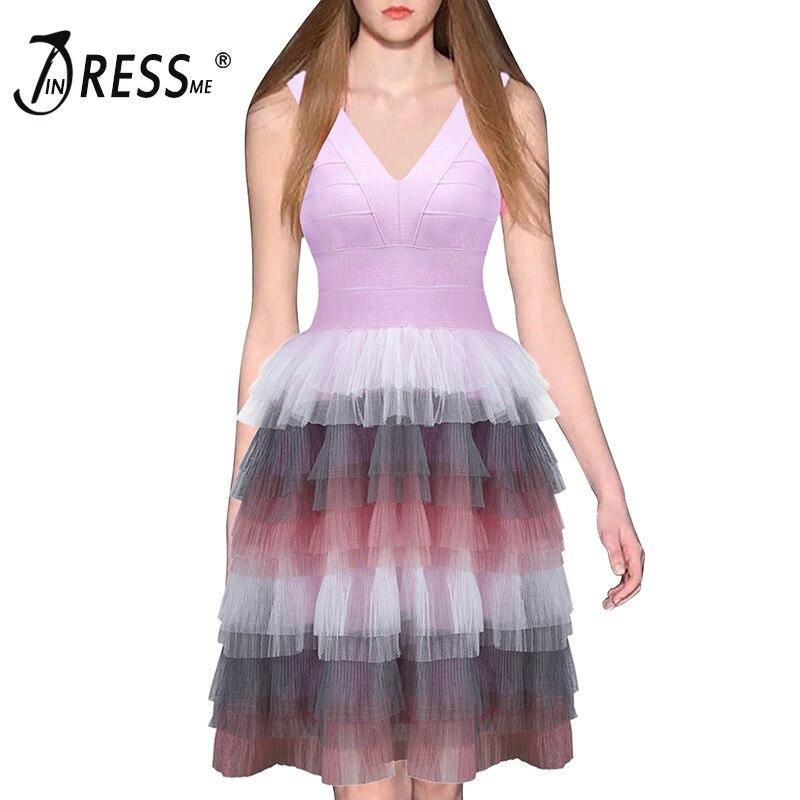 INDRESSME Women A-Line Feather Bandage Dress V Neck Spaghetti Strap Mini Bodycon Club Party Dresses Vestidos 2018 цена