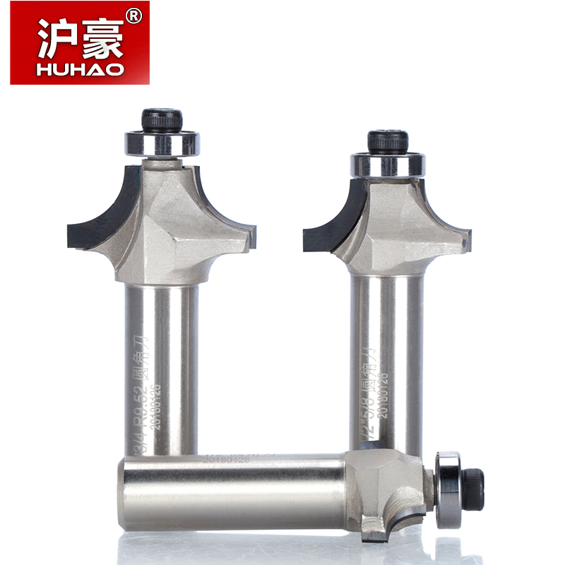 цена на HUHAO 1pc 1/2 Shank Diamond Chamfer Round Router Bits Woodworking Cutter Slotter Engraving Machine Tool PCD Router Bit