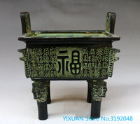 Antique bronze ware vintage home decoration handicraft fuding baishou tripod bronze ware..