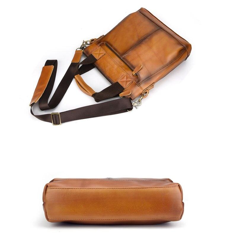 Herren Bjyl Umhängetasche Orange Geschäfts Leder Handtasche Retro Vertikale Schulter Männer Farbe Tasche Offizielle nrYqravw