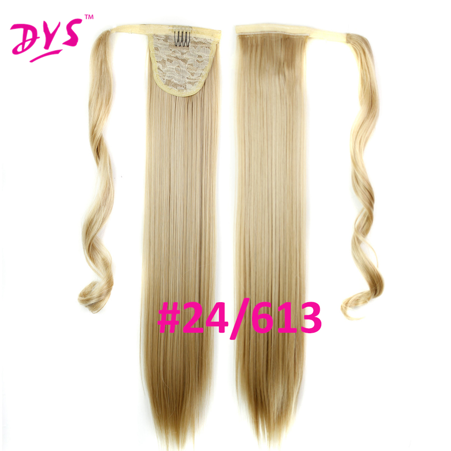 Deyngs 60cm Long Straight Clip In Hair Tail False Hair Ponytail Hairpiece With Hairpins Synthetic Hair Pony Tail Hair Extensions (15)