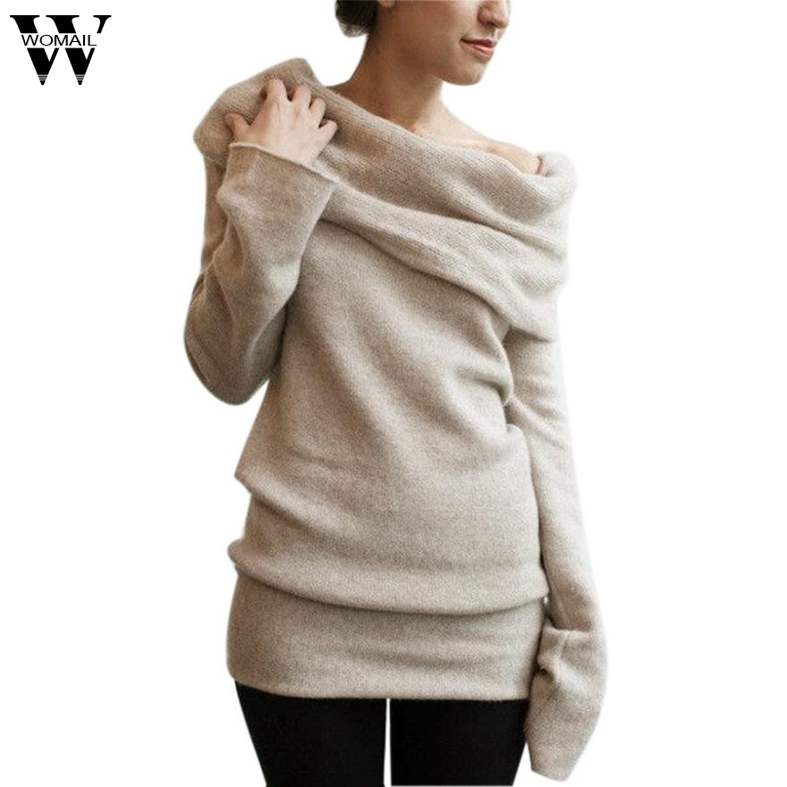 Winter Warm Loose Turtleneck Women Sweaters Long Sleeve Knitted Sweater and Pullovers femme Amazing New 2017