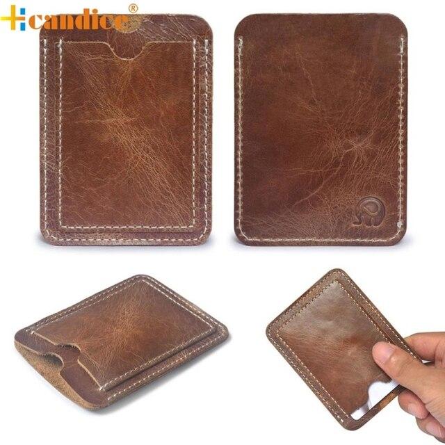 brown card holder slim credit card id card holder case bag wallet holder best gift wholesale - Best Credit Card Holder