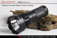 Free Shipping Sunwayman M40A U2 645 4 Magneticcontrol Aa Flashlight 645 Lumens High Output 4 AA