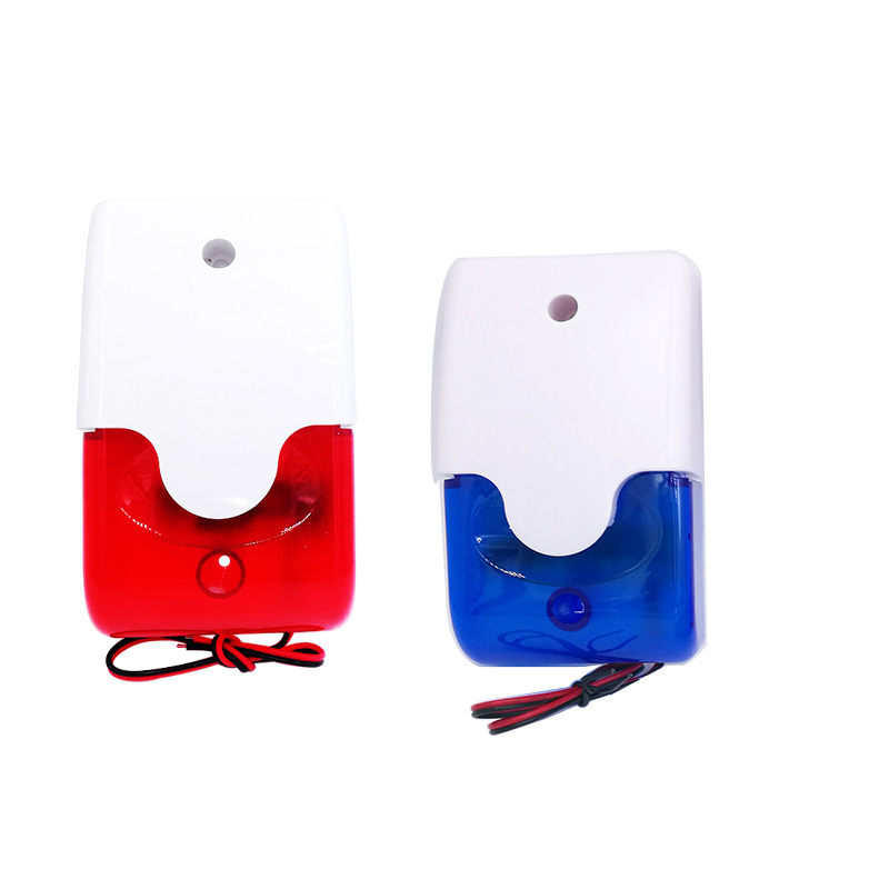HH-103 Mini Strobe Siren Indicator Light Sound Alarm Lamp Flashing Light Wired Red 12V 24V 220V 110DB