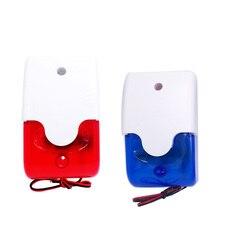HH-103 Mini syrena stroboskopowa lampka sygnalizacyjna sygnał dźwiękowy migające światło przewodowa czerwona 12V 24V 220V 110DB