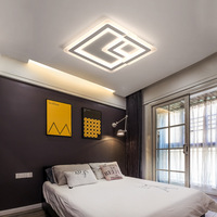 Bedroom Minimalism Dimmable Acrylic Ceiling Lamp 2 Rectangles Led Ceiling Light Remote Control Led Luminairas Indoor Lighting
