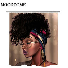 Black Girl Shower Curtain Bathroom Cortina Bano Drop Shipping Waterproof Polyester African Afro