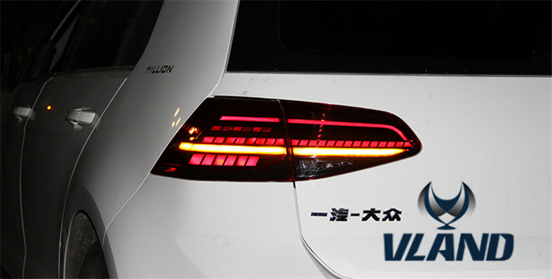 Vland Factory for Car Tail Lamp for Golf MK7 Full-LED Taillamp Rear Light Plug and Play Design for 2014-2016 автоинструменты new design autocom cdp 2014 2 3in1 led ds150