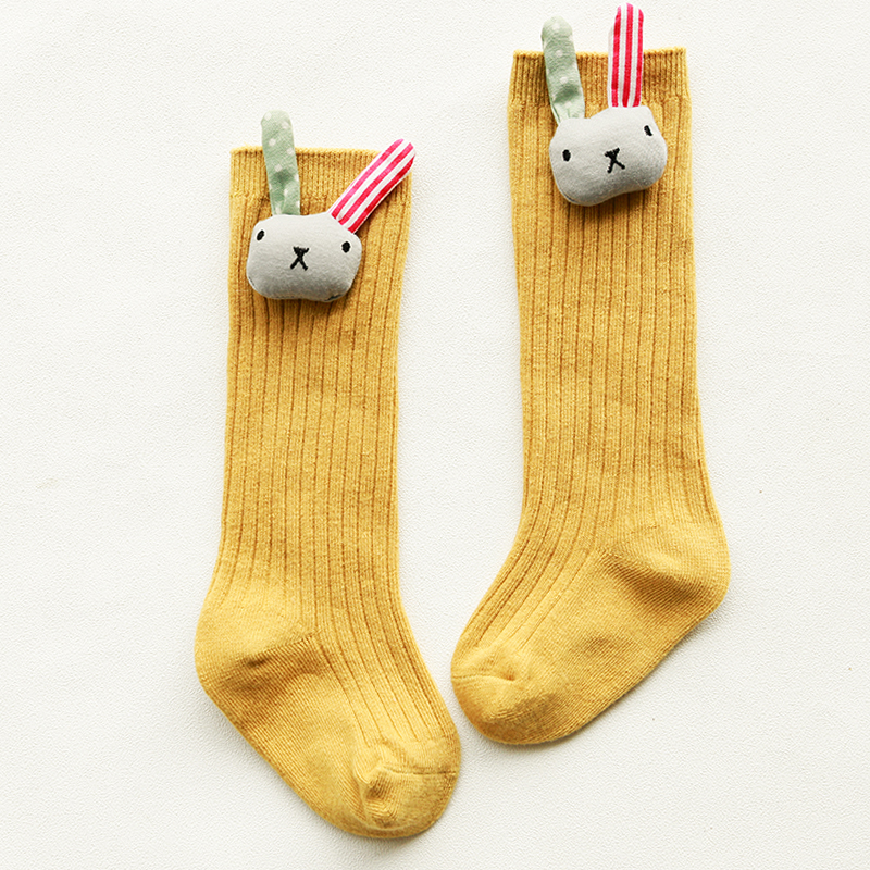 Winter And Autumn New Arrival Baby Cotton Decorative Children's Socks Girls All Over The Knee Color  Socks