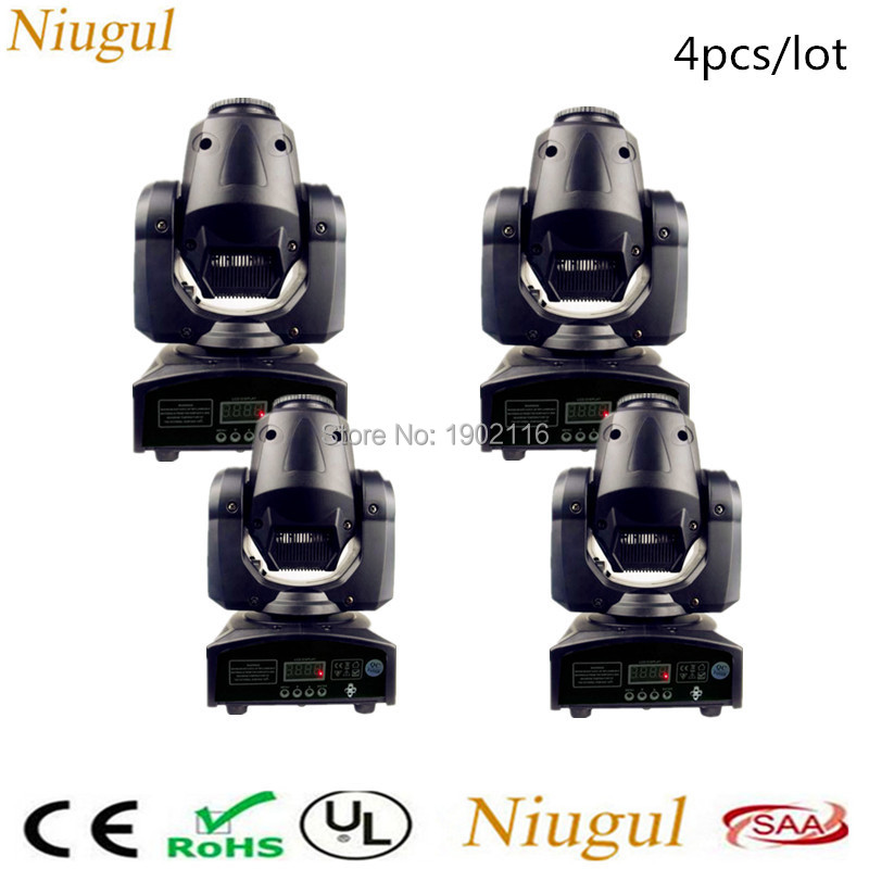 4pcs/lot Newest 30W mini led spot moving head light 30W DMX dj gobos effect stage lights/ktv bar disco party LED patterns light