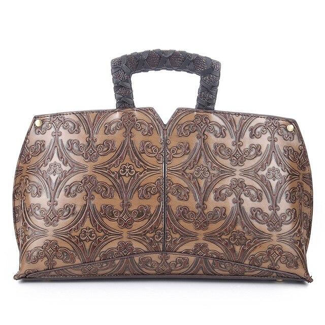Fashion Retro Embossed Leather Women Shoulder Bag Handbag Messenger Bag