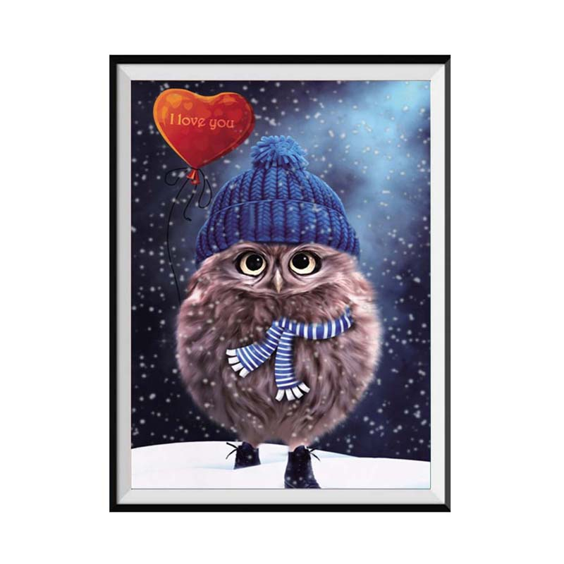 Hoomall Cute Owl Diamond Embroidery Sale Paintings Pictures of Rhinestones Christmas Hom ...