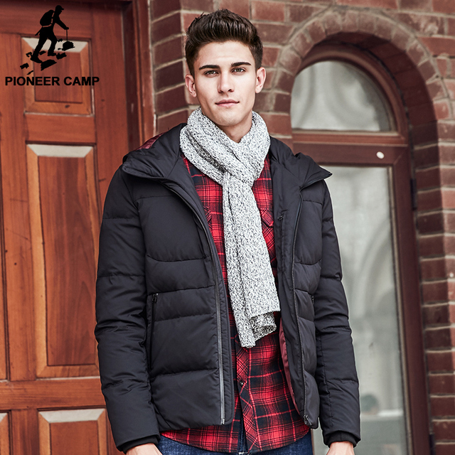 499fc3336cc1 Pioneer Camp winter jacket men brand clothing high quality 90% white duck  down coat mens