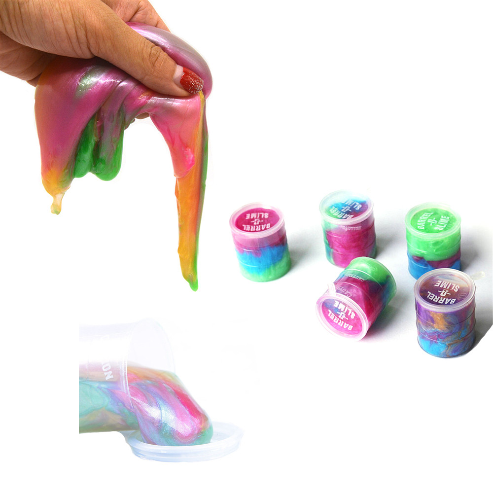 Multicolor Novelty Oil Lily Box Snot Mud Muddy Toys Stress Relief Sludge Toys Education  ...