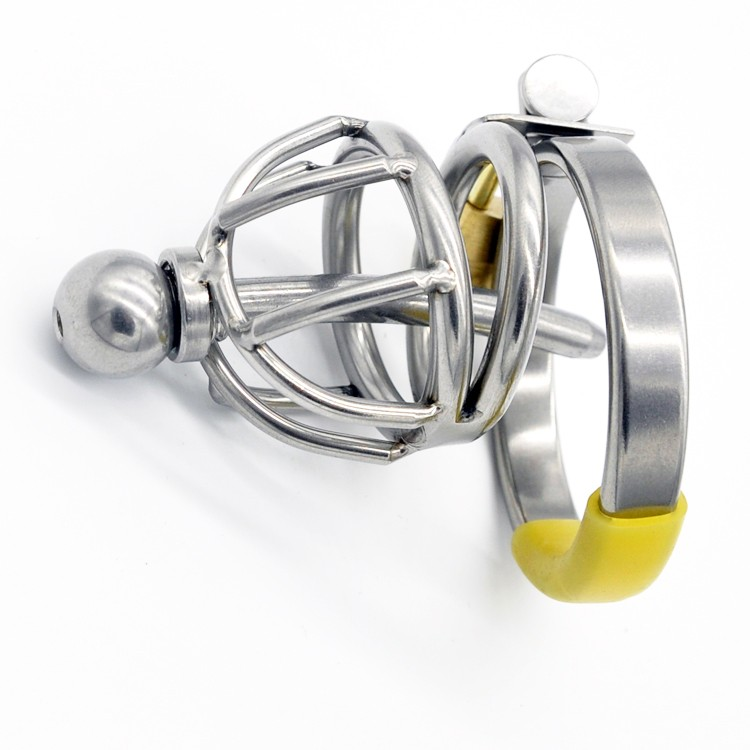 New-Stainless-Steel-Male-Chastity-Device-with-Catheter-Cock-Cage-Virginity-Lock-Penis-Ring-Penis-Lock