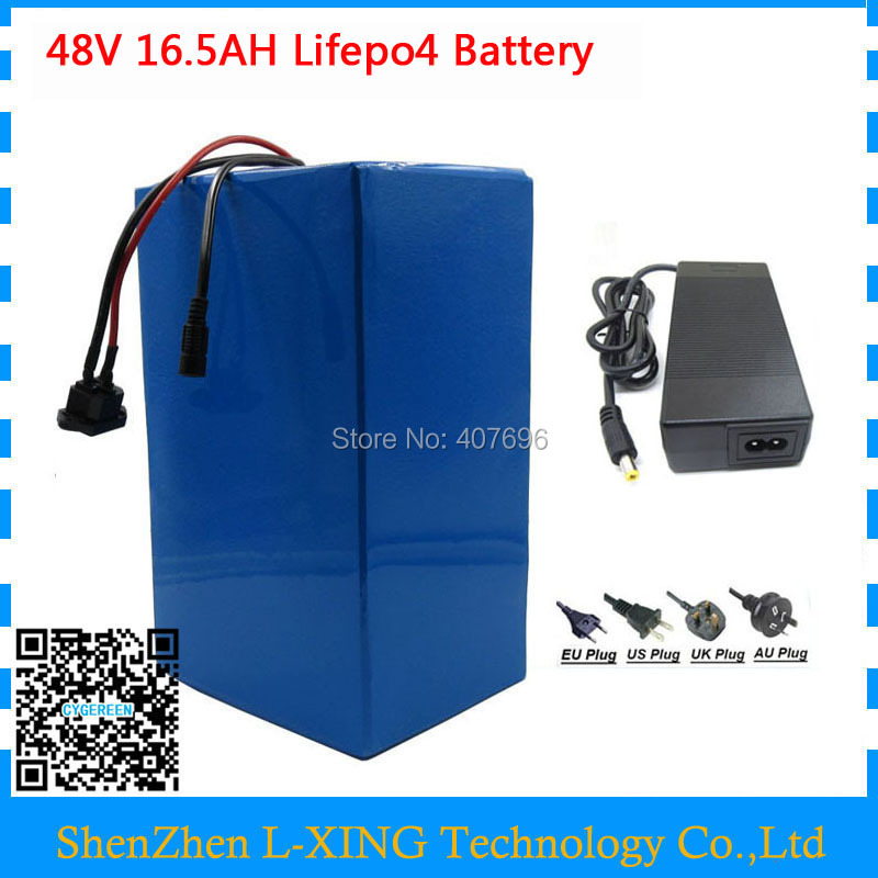 Free customs duty 1000W 48V lifepo4 battery 48V 16.5AH ebike battery 48 V electric bike battery with 30A BMS 58.4V 2A Charger e bike battery 48v 45ah 2400w for samsung 30b cells with 2a charger 30a bms for electric bicycle battery 48v free shipping duty