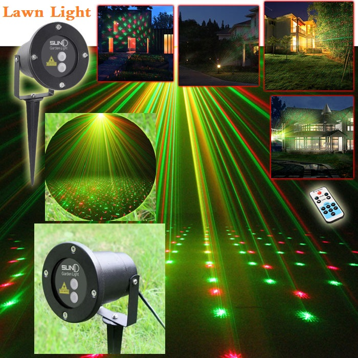 High-quality laser lawn lamp / outdoor waterproof plug Christmas lights garden landscape high quality southern laser cast line instrument marking device 4lines ml313 the laser level