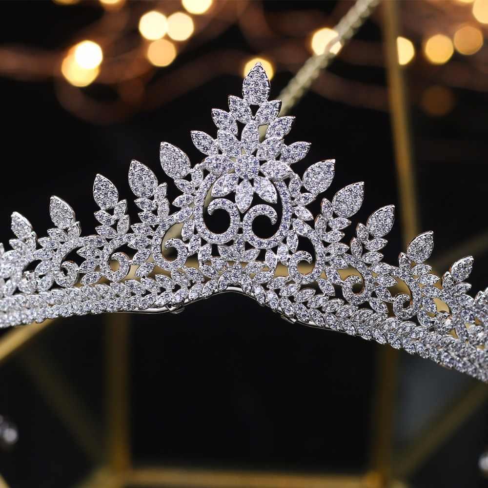 6084de47a0 Designer Wedding Tiaras 2018 Crystals Zircon Baroque Bridal Crowns Tocado  Novia Bride Hair Jewelry Wedding Hair Accessories
