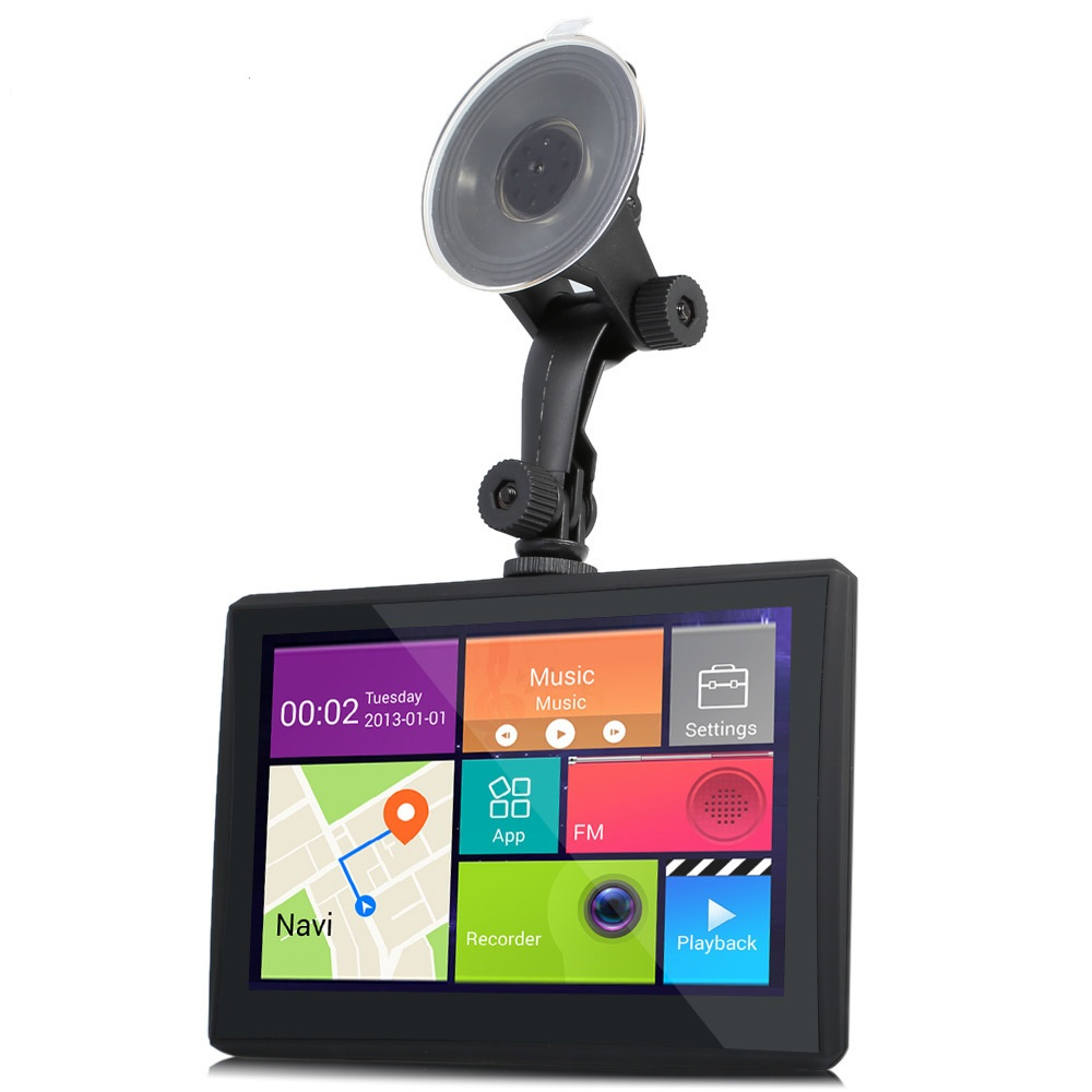 902 7 inch Car Tablet GPS Android 4.4 170 Degree 1080P DVR Recorder WiFi FM Multi media Player with Google Maps / Software